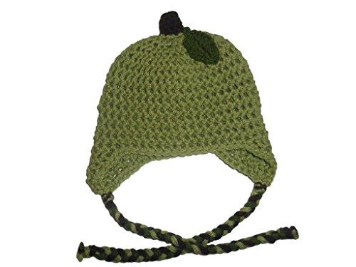 Sweet Lullabiez Handmade Green Granny Smith Apple Beanie / Hat Size 2T-3T (Hat Granny)