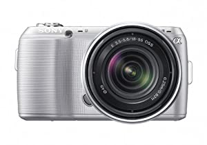 Sony Alpha NEX-C3 16 MP Compact Interchangeable Lens Digital Camera Kit with 18-55mm Zoom Lens (Silver)