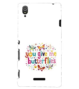 Kingcase Printed Back Case Cover For Sony Xperia T3 - Multicolor