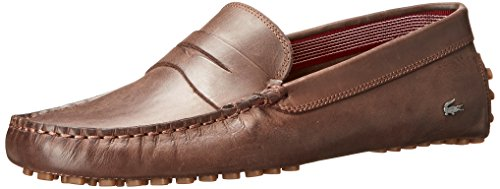 Lacoste Men's Concours 16 Slip-On Loafer, Brown, 10.5 M US