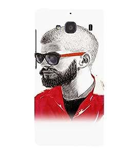 EPICCASE Guy with a beard Mobile Back Case Cover For Mi Redmi 2 (Designer Case)
