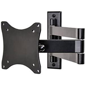 "VideoSecu LCD Monitor TV Wall Mount Articulating Arm Bracket for most 12""-24"", some up to 27"" with VESA 100/75mm LED Flat Panel Screen TV ML10B 1E9"