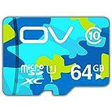 CoolEStore OV MicroSDXC 64GB カード Class10 UHS-I対応 (無期限保証) 超高速読込最大速度80MB/s (64GB Camouflage)