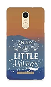 AMEZ enjoy the little things 2 Back Cover For Xiaomi Redmi Note 3