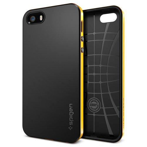 国内正規品 (二重構造) Spigen iPhone 5s / 5 ケース ネオ・ハイブリッド [レベントン・イエロー] SGP10364