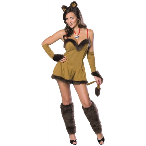 Cowardly Lioness Costume - X-Small - Dress Size 2-6