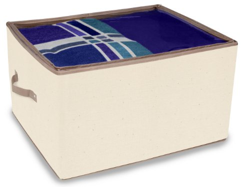 DAZZ Large Storage Box with Handles and with Cedar, Natural Canvas