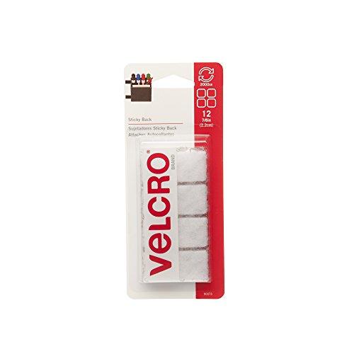 "VELCRO Brand - Sticky Back - 7/8"" Squares, 12 Sets - White"
