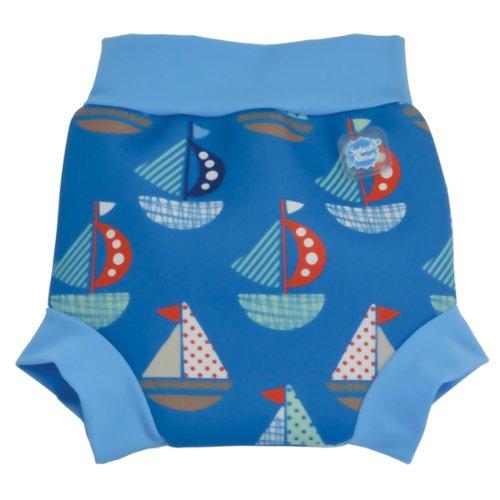 Splash About Happy Nappy (Swim Diaper) Board Shorts (Large 6-14 Months (10-15Kg), Set Sail) front-287009