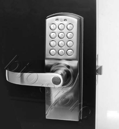 Left Handed Digital Keypad Door Lock With Backup Keys, Electronic Keyless Entry By Password Code Combination, Great For Resort Apartment Cottage