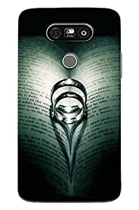 Blue Throat Ring In The Books Hard Plastic Printed Back Cover/Case For LG G5