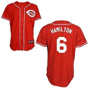 Billy Hamilton Cincinnati Reds Alternate Red Replica Jersey by Majestic by Majestic