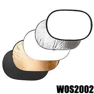 DynaSun WOS2002 Réflecteur Ovale Pliable/Réversible 5-en-1 pour Studio Photo/Vidéo 102 x 153 cm
