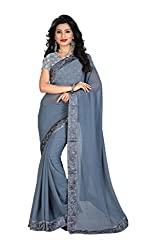 Gokul Vastra Georgette Saree (Pack of 8) (P-BT-130_8_Grey)