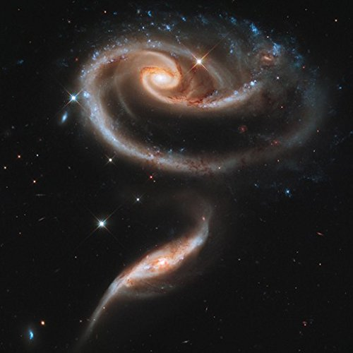 PAIR-of-INTERACTING-GALAXIES-POSTER-Space-Astrology-Amazing-Nasa-Hubble-Telescope-Shot-RARE-HOT-NEW-24x24