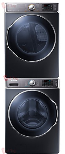 Bundle: Samsung 5.6 cf Steam Front Load Washer & 9.5 cf Steam Electric Dryer Stacked includes Stack Kit Onyx WF56H9100AG DV56H9100EG SKK-BB (Samsung Dryer Dv56h9100eg compare prices)