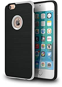 """iPhone 6s Plus Case, CellEver Hairline Textured Case [Slim Fit] TPU & PC Hybrid Cover [Curved Bumper] Lightweight Case for Apple iPhone 6 Plus and iPhone 6S Plus (5.5"""") - Silver"""