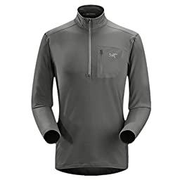 Arcteryx RHO LT Zip Neck - Men\'s Iron Anvil Large
