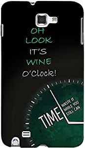 PrintVisa Quotes Attitude Wine Time Case Cover for Samsung Galaxy Note 2