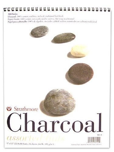 Strathmore Spiral Charcoal Paper Pad White 9