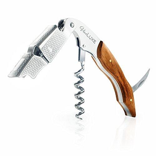 Vino Luxe Premium Waiter's Corkscrew W/ Rosewood Handle. The Perfect Wine Opener, Bottle Opener, & Foil Cutter