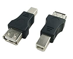 Generic USB Type A Female to USB Type B Male Adapter (USB_A_F-USB_B_M)