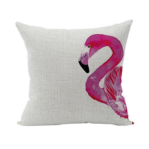 Nunubee Tier Kissenbezug Sofa Dekokissen Haus Dekoration weich Quadrat Sofa Kissen Flamingos