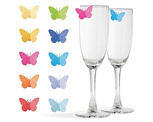 Glas Marker Schmetterling 10er Set