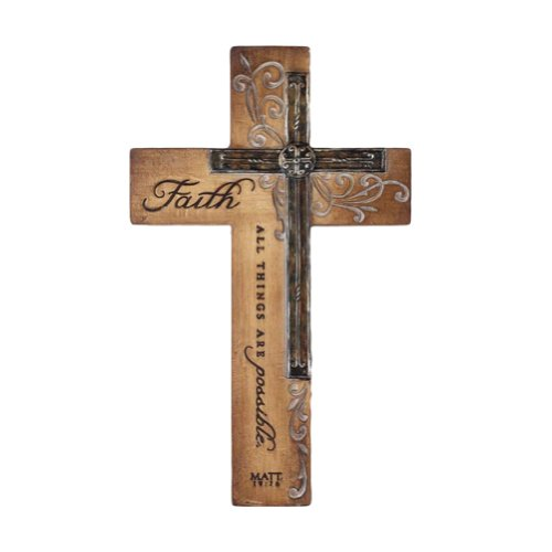 Intaglio Resin Wall Cross - Faith - All Things (Resin Wall Cross compare prices)