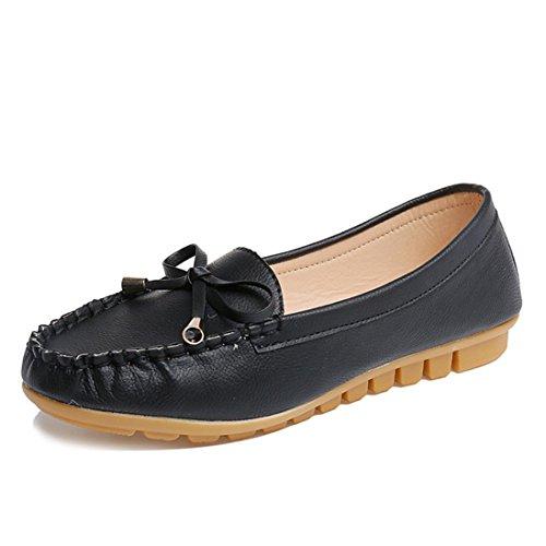 Transer® Pantofole Donna Estivi Bassi Medio Tacco Basso Pantofole da Spiaggia Boemia Ragazza Zeppa Scarpa Pantofola Romano (38, Nero)