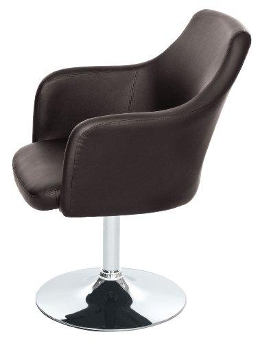 Lounge Sessel von opixeno, aus braunem PU-Leder, Cocktailsessel, Barstuhl, Drehstuhl