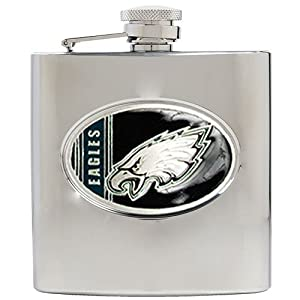 NFL Philadelphia Eagles 6oz Stainless Steel Hip Flask by Great American Products
