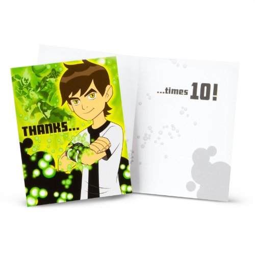 Ben 10 Thank-You Notes (8) Party Supplies