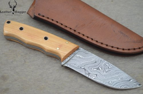 Promotional Offer By Leather-N-Dagger | Professional High Quality Custom Handmade Damascus Steel Hunting Knife (100% Satisfaction Guaranteed) Ld105