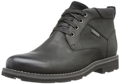 Clarks Naylor Mid GTX, Chaussures montantes homme - Noir (Black Leather), 41.5 EU (7.5 UK)