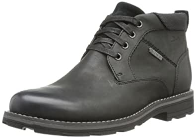 Clarks Naylor Mid GTX, Chaussures montantes homme - Noir (Black Leather), 41.5 EU (7.5 UK)