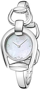 Gucci Women's YA139506 Gucci Horsebit Collection Analog Display Swiss Quartz Silver Watch
