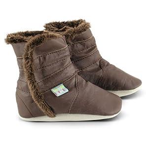 Snuggle Feet - Suaves Cargadores De Cuero Del Bebé Marron Clasico de Snuggle Feet