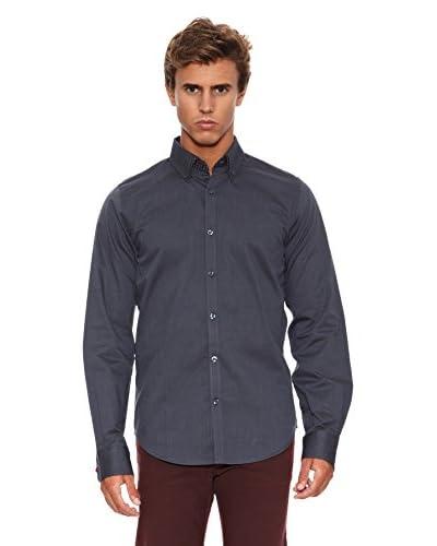 Springfield Camisa Cuello Dark Solid Gris Oscuro