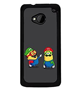 printtech Minions Mario Back Case Cover for HTC One M7::HTC M7
