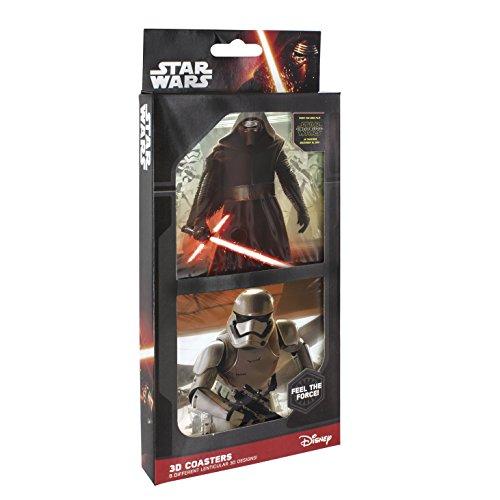 Joy Toy Star Wars Sottobicchieri Con Immagini Lenticolare 3D, Plastica, Multicolore, 11X2X25 Cm