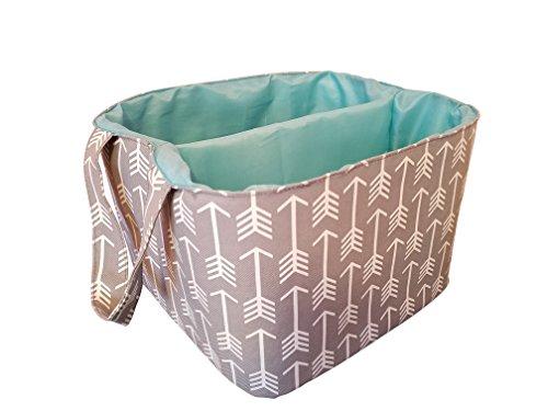 danha-gray-arrow-diaper-storage-caddy