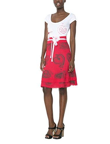 Desigual, Damen A-Linie Kleid ROXANA, Knielang, Rot (Fresa), Gr. M (Herstellergröße: L) thumbnail