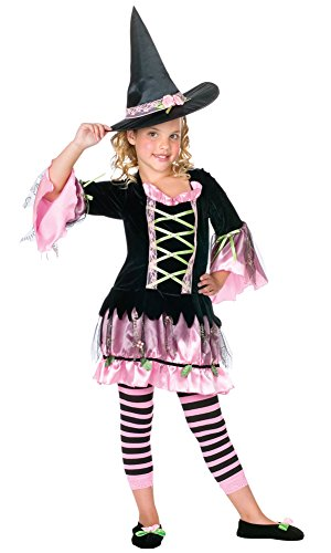 Girls - Blossom Witch Lg Halloween Costume - Child Large
