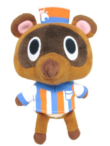 "Sanei Animal Crossing New Leaf Doll Timmy Convenience Store Clerk 5.5"" Plush"