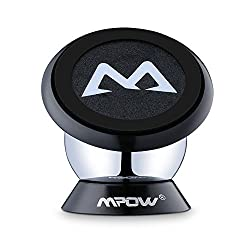 Mpow 360 Degree Rotatable Sticky Magnetic Mini Mount Holder For iPhone 6s, Samsung and Other Smartphones, Black