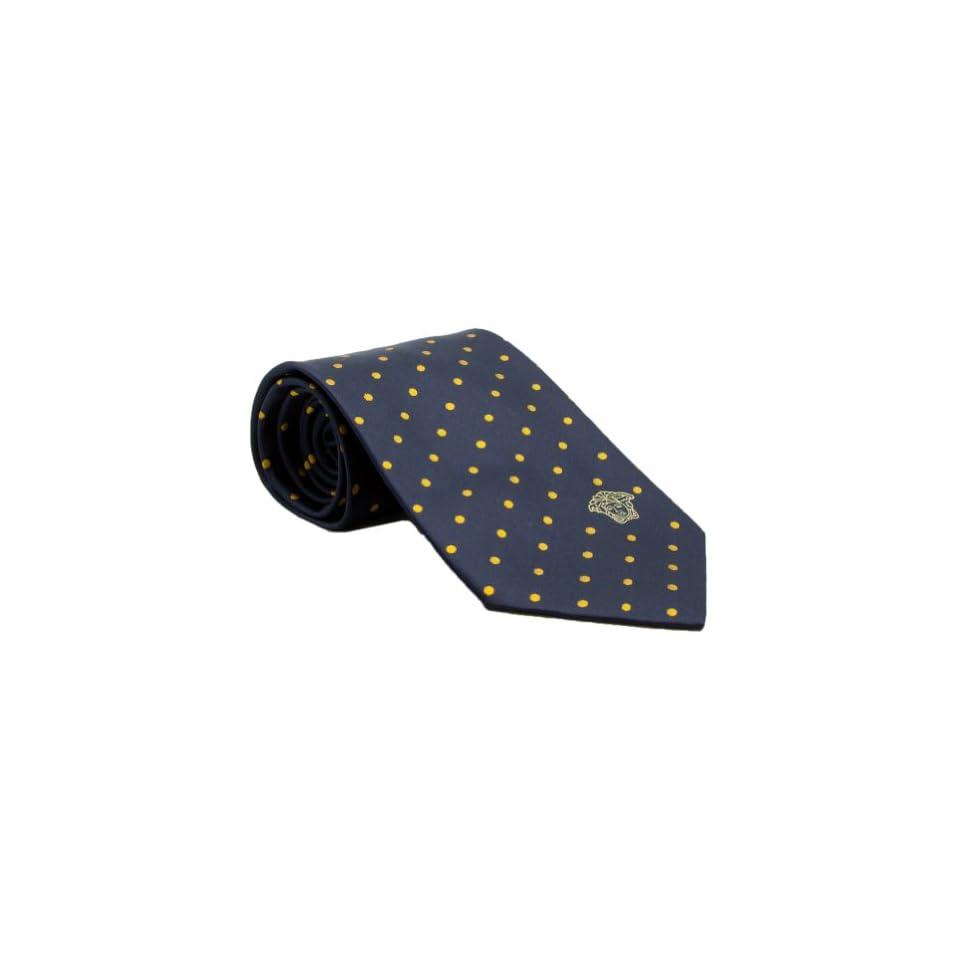 Versace VE BO341 0004 Navy/Yellow Polka Dot Woven Silk Men's Tie at  Men's Clothing store