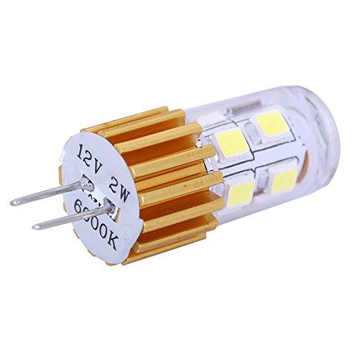 2Pcs Led Car Spot Light Bulb High Power Super Bright G4 12Leds Smd2835 Ac/Dc 12V Cool White Light For Caravans And Marine Boats (12Leds Smd2835, Cool White)