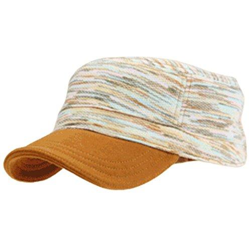 signore-del-cotone-flat-top-hat-stripes-moda-protezione-esterna-inverno-caldo-camel