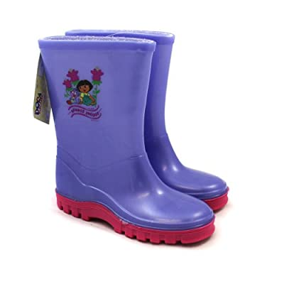 Dora the Explorer Wellies / Wellingtons - Fr UK Child Shoe Size 6 to 12